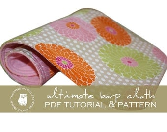 Ultimate Burp Cloth - PDF Tutorial & Pattern
