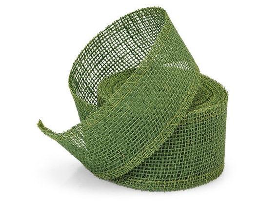 Moss green leaf 2 wide x 5yds jute burlap ribbon free for Green burlap ribbon