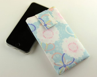 iPhone 6 Cover, iPhone 6 Plus Case, Smart Phone sleeve,Cherry Blossoms Light Blue
