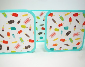 Ice Pop Mini Cards, Blank Mini Cards, Summer Mini Cards with Envelopes, Cold Treats Cards, Summer Cards, Ice Cream Cards, Ice Lolly Tags
