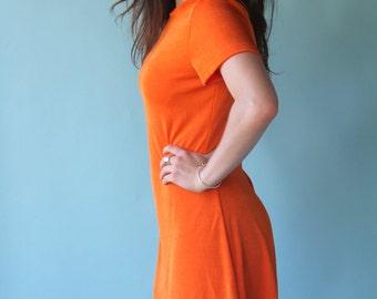 Mod Orange Dress