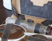 Vintage Grooming Set Vanity Case Leather Men