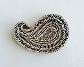 Large Paisley Stamp: Hand Carved Wood Stamp, Handmade Indian Printing Block, Wooden Textile Stamp, Ceramics or Clay Craft Stamp from India