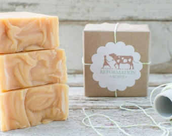 Dandelion Soap {All-Natural, Herbal Soap, Cold Process Soap, Farmstead Soap, Handcrafted}