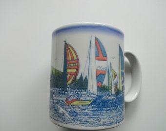 Vintage Otagiri Marina Coffee Mug 1980s