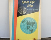Vintage 1960 Edition Space Age Atlas by Rand McNally Hardcover Book