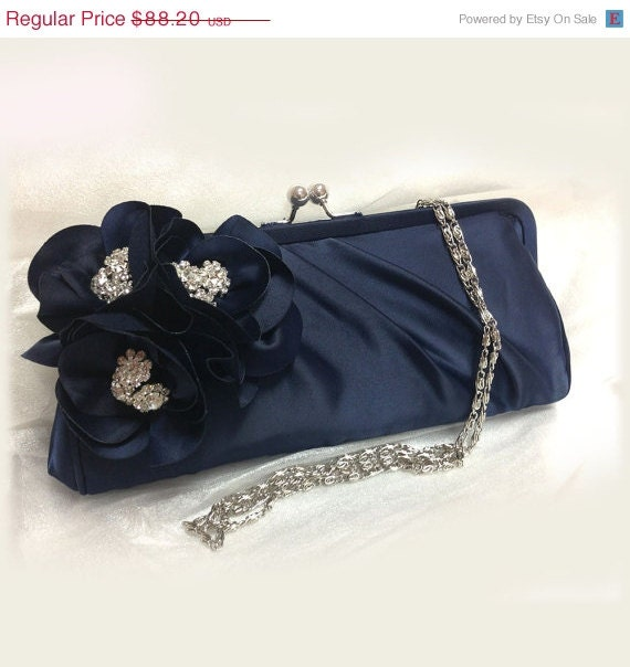 Wedding clutch, Bridesmaid clutch, Navy blue clutch, evening bag ...