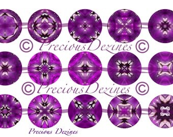 2 Purple Butterfly Mandala designs digital collage sheet for making epoxy cabs, pendants, magnets, pinback buttons, 4x6 digital download