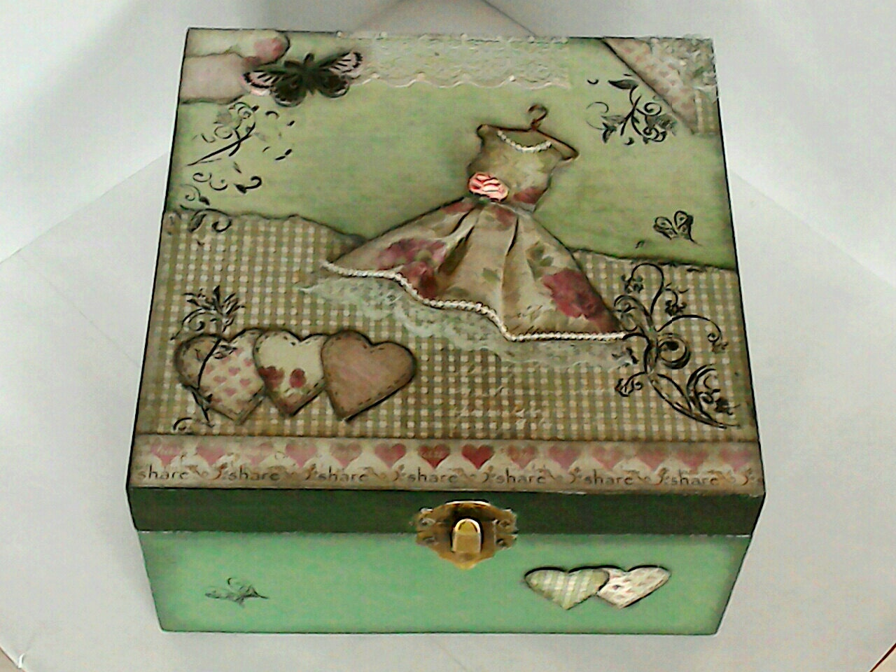 shabby chic box vintage style box chic decoupage box chic. Black Bedroom Furniture Sets. Home Design Ideas