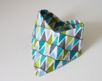 Bandana Bib in Blue and Teal Bunting