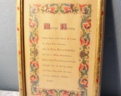 Marriage Blessing in A Florentia Picture Frame