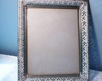 Ornate Antique Gold Tone Finish Photo Frame Large