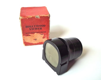 Vintage Craftsmans Guild Hollywood Viewer Slide Viewer in Original Box, Bakelite