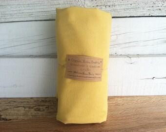 Organic Fitted Crib Sheet - Hand Dyed Golden Sun