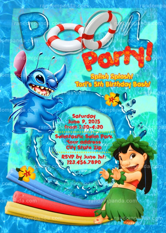 Pool Party Invite Wording as adorable invitations template
