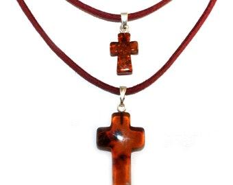 NATURAL BALTIC AMBER Crosses Pendants