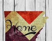 Arkansas Home Print | Chevron