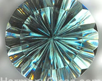 Steel Blue Fluted Stained Glass Jewel 35mm