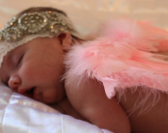 """SALE! Baby Angel Wings Newborn Infant Baby Shower Soft, Beautiful, Natural Wings for Professional Photo Prop, Costume 9"""" x 7.5"""""""