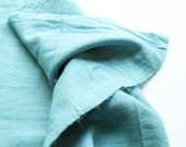 cotton double gauze fabric. japanese pure cotton fabric. soft like a cloud. 102cm (40inch) wide. sold by 100cm (39inch) long. pale aqua