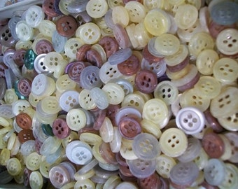 Lot of 300 buttons- 10mm - 12mm - New from old Stock