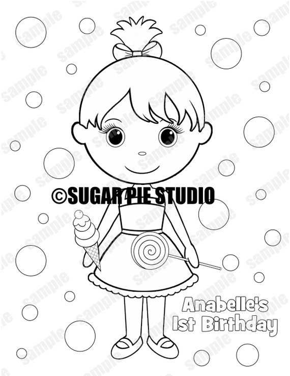 custom candyland coloring pages - photo#16