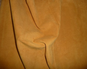 "Suede Leather 12""x 12"" Dark GOLDENROD Garment Grade SUEDE Cowhide 2.5-3 oz / 1-1.2  mm PeggySueAlso™ E2826-12"