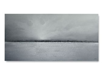 "Original Art, large landscape painting 24 X 48 ""Ice Bridge"""