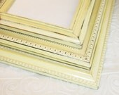 Yellow Picture Frame One 8x10 Soft Yellow Vintage Hand Painted & Distressed