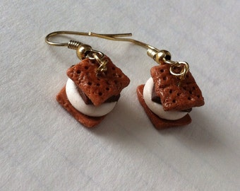 Perfect Polymer Clay S'mores Earrings