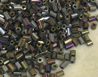 11/0 Two-cut Rainbow Brown Glass Beads - Item # 2CBR