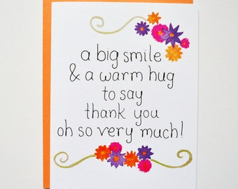 Warm Thanks Greeting Card