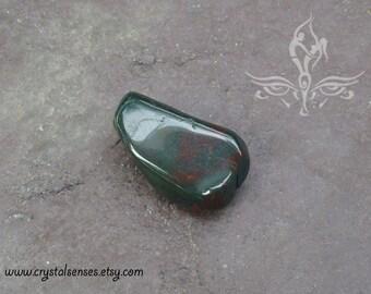 Bloodstone Tumbled Gemstone Crystal - 1 piece Medium Size (BLS0031), Blockage, Trauma, Grief, Abundance, Base Chakra