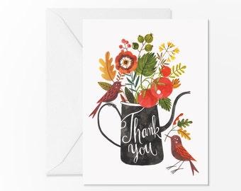 Birds Thank You card