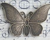 Solid Brass Casting Butterfly, Brass Ox, Art Deco