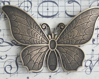 Solid Brass Casting Butterfly, Brass Ox, Art Deco