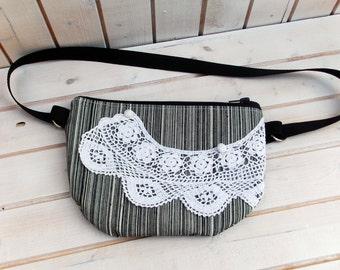 waist bag, hip bag, fanny pack,  waist purse romantic, woman waist bag doily bag, belt pocket, running bag, hipster