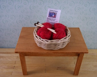 miniature knitting basket