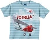 Personalized Airplane Shirt, Boys Airplane Birthday T-Shirt, Boys Plane Shirt, Boys Tee