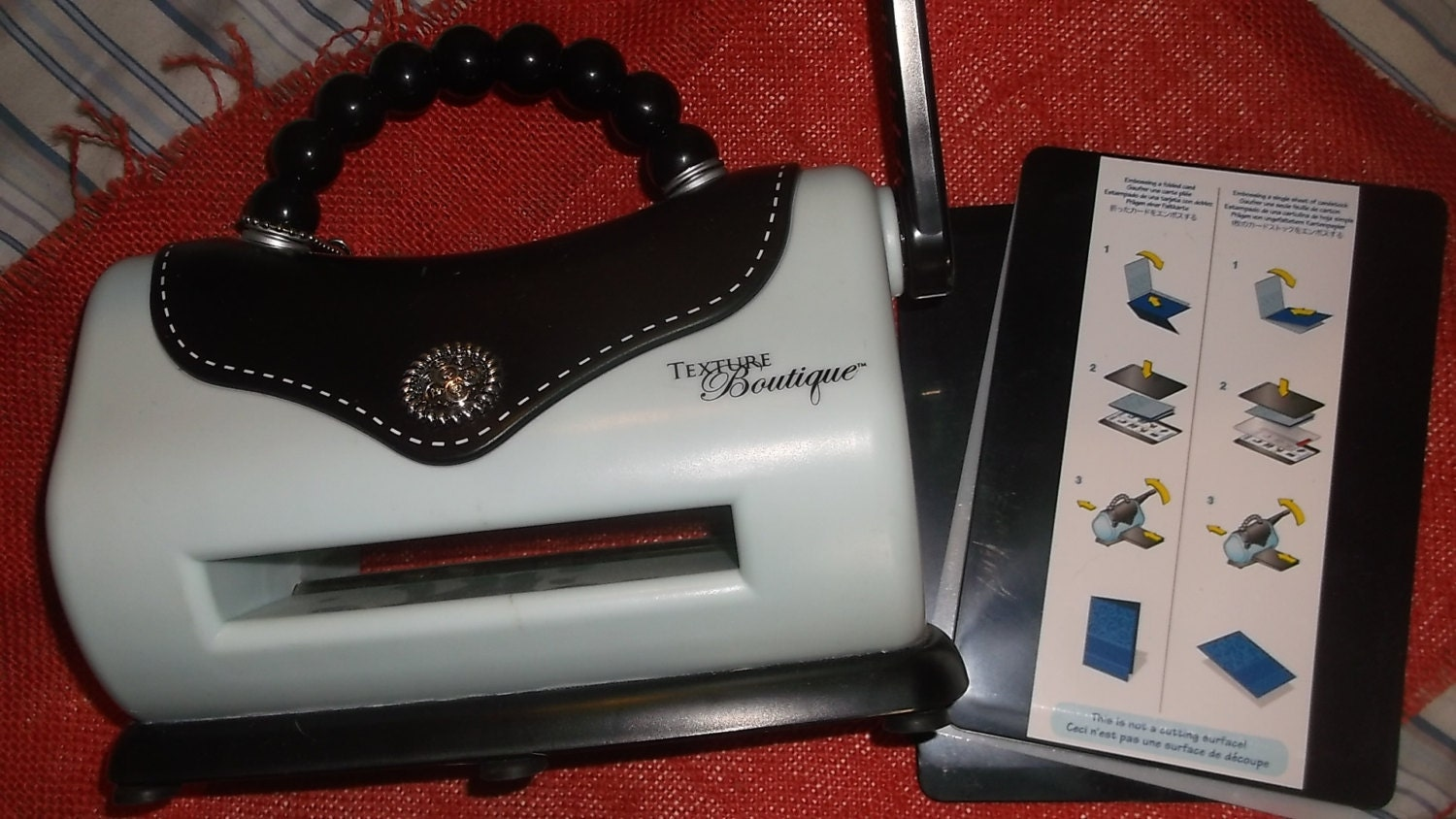 Sizzix Texture Boutique Embossing Machine use with by ScoutsPlace