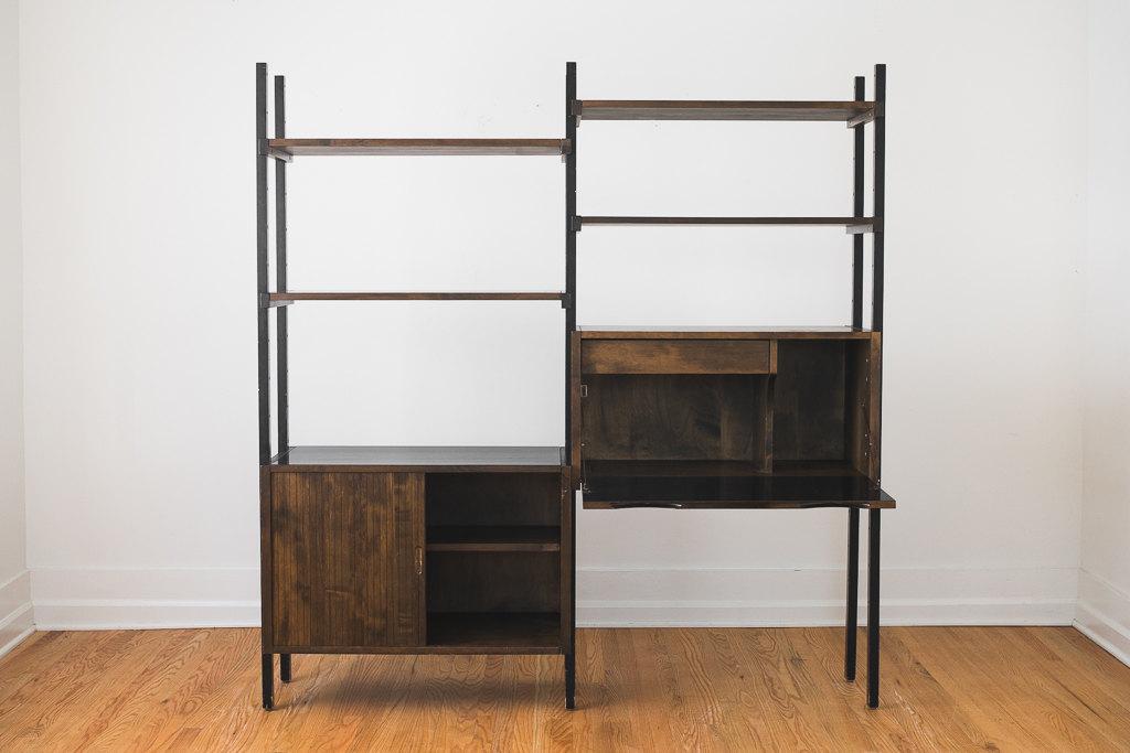 mid century kopenhavn modular shelving unit desk