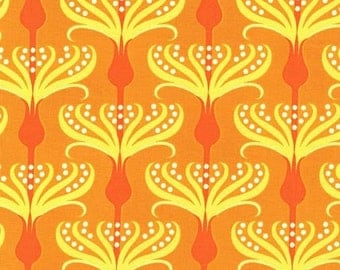 Orange Pirouette from Michael Miller's Helen's Garden Collection by Tamara Kate