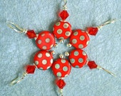 Red Hot Dots stitch markers