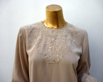 Hanae Mori embroidered silk blouse 50% off