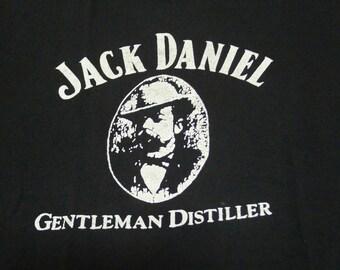 Vintage 80's Jack Daniel Gentleman Distiller Black T-shirt