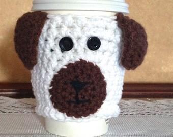 Dog Crochet Coffee Cozy, Crochet Coffee Cozy, Coffee Lovers, Coffee Cup Sleeve, Coffee Cozy, Crochet Cozy, Dog Lover
