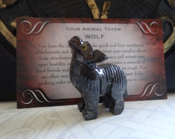 Hand Carved *WOLF* Animal Spirit Totem for Spiritual Jewelry or Crafts