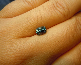 Genuine Montana Sapphire Blue Green Cushion cut 1.03 carat Loose Gemstone for Engagement, Jewelry Design, Special Occasion, USA gemstones