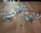 Set of 3 Reclaimed Glass Candle Holders