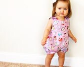 HAPPY FROG Baby Bubble Romper pattern Pdf sewing , Overall, Easy, children babies toddler, Baby Girl and Boy newborn 3 6 9 12 m 1 yr Instant